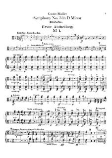 Sinfonie No.3 in d-Moll: Bratschenstimme by Gustav Mahler