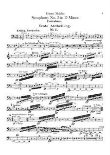Sinfonie No.3 in d-Moll: Kontrabassstimmen by Gustav Mahler