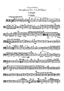 Sinfonie Nr.1 in D-Dur 'Der Titan': Fagottstimmen by Gustav Mahler