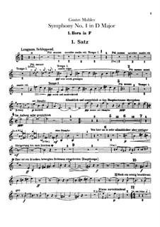 Sinfonie Nr.1 in D-Dur 'Der Titan': Hörnerstimmen by Gustav Mahler