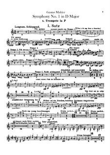 Sinfonie Nr.1 in D-Dur 'Der Titan': Trompetestimmen by Gustav Mahler
