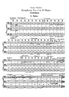 Sinfonie Nr.1 in D-Dur 'Der Titan': Kontrabassstimme by Gustav Mahler