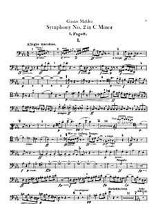 Sinfonie Nr.2 in c-Moll 'Resurrection': Fagottstimmen by Gustav Mahler