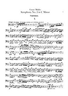 Sinfonie Nr.2 in c-Moll 'Resurrection': Kontrabassstimmen by Gustav Mahler