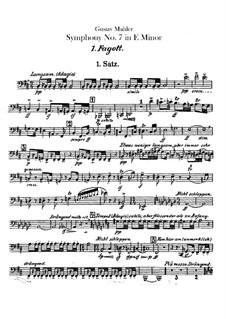 Sinfonie Nr.7 in e-Moll: Fagottstimmen I, II by Gustav Mahler