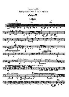 Sinfonie Nr.7 in e-Moll: Fagott III- und Kontrafagottstimmen by Gustav Mahler