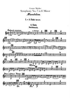 Sinfonie Nr.7 in e-Moll: SMandolinestimme by Gustav Mahler