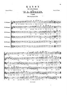 Wo der perlende Wein im Glase blinkt, K.347: Wo der perlende Wein im Glase blinkt by Wolfgang Amadeus Mozart