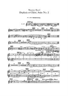 Daphnis und Chloe. Suite Nr.2, M.57b: Trompetenstimmen by Maurice Ravel