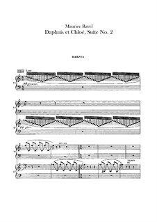 Daphnis und Chloe. Suite Nr.2, M.57b: Harfenstimme by Maurice Ravel