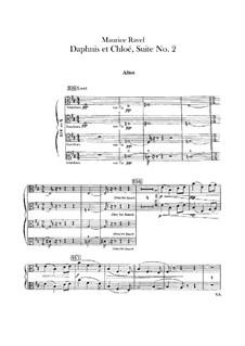 Daphnis und Chloe. Suite Nr.2, M.57b: Violastimme by Maurice Ravel