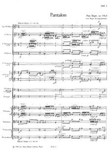 Ballettsuite in D-Dur, Op.130: Teil IV. Pantalone by Max Reger