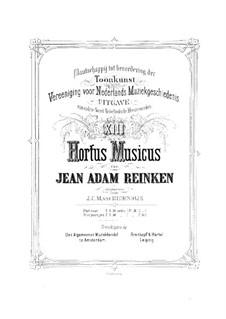 Hortus Musicus. Sonaten und Suiten für Streicher und Basso Continuo: Violinstimme I by Johann Adam Reincken