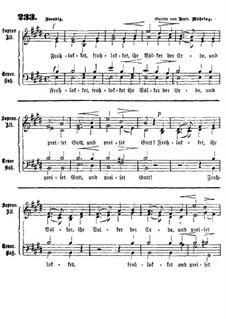 Flohlocket, ihr Volker der Erde: Singpartitur by Ferdinand Möhring