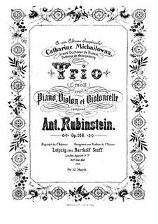 Klaviertrio Nr.5 in c-Moll, Op.108: Vollpartitur by Anton Rubinstein