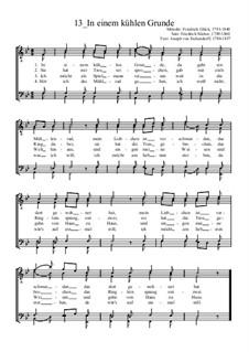 In einem kühlen Grunde: Für Männerchor by Friedrich Glück