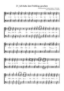Ich habe den Frühling gesehen: Für Männerchor by Friedrich Silcher