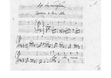 Api che raccogliete für Stimme und Basso Continuo, SF A29: Api che raccogliete für Stimme und Basso Continuo by Benedetto Marcello
