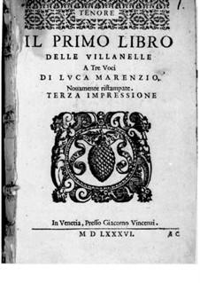 Villanellen: Heft I – Tenorstimme by Luca Marenzio