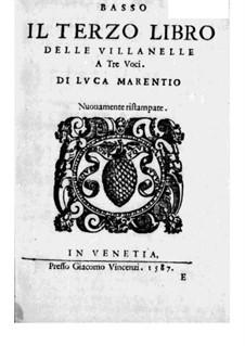 Villanellen: Heft III – Bassstimme by Luca Marenzio