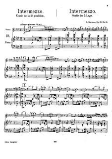 Vingt-quatre Caprices d'execution transcendante for violin and piano, Op.25: Nr.10 Intermezzo – Partitur by Henri Marteau