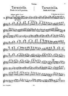 Vingt-quatre Caprices d'execution transcendante for violin and piano, Op.25: Nr.11 Tarantella – Stimme by Henri Marteau