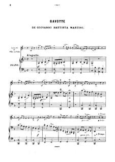 Gavotte: Für Violine und Klavier by Giovanni Battista Martini