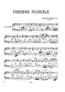 Drei Stücke für Klavier, Op.33: No.1 Pensiero musicale by Giuseppe Martucci