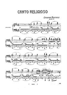 Drei Stücke für Klavier, Op.33: Nr.3 Canto religioso (Religiöses Lied) by Giuseppe Martucci