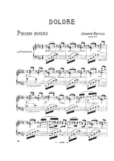 Sieben Stücke für Klavier, Op.43: No.2 Dolore by Giuseppe Martucci