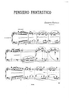 Sieben Stücke für Klavier, Op.43: No.4 Pensiero fantastico by Giuseppe Martucci