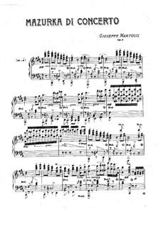 Mazurka di concerto (Konzert-Mazurka), Op.4: Mazurka di concerto (Konzert-Mazurka) by Giuseppe Martucci
