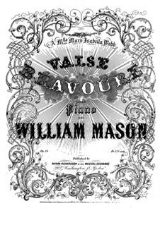 Valse de bravoure, Op.15: Valse de bravoure by William Mason