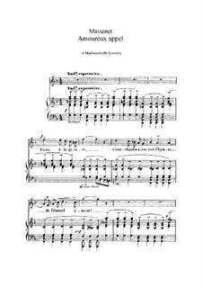 Amoureux appel: In F-Dur by Jules Massenet
