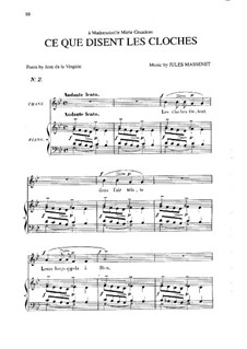 Ce que disent les cloches: In G Minor by Jules Massenet