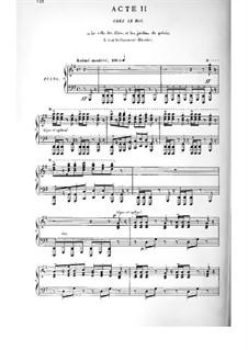 Cendrillon (Cinderella): Akt II. Bearbeitung für Stimmen und Klavier by Jules Massenet