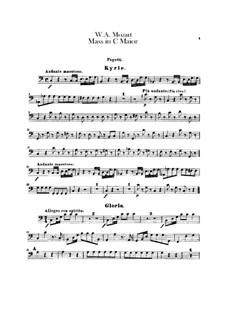 Krönungsmesse Nr.15 in C-Dur, K.317: Fagottstimme by Wolfgang Amadeus Mozart