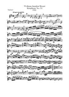 Sinfonie Nr.35 in D-Dur 'Haffner', K.385: Violinstimme I by Wolfgang Amadeus Mozart
