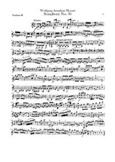 Sinfonie Nr.36 in C-Dur, K.425: Violinstimme II by Wolfgang Amadeus Mozart