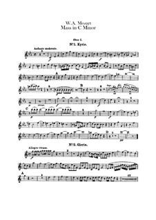 Grosse Messe in c-Moll, K.427, K.417a: Oboenstimmen by Wolfgang Amadeus Mozart