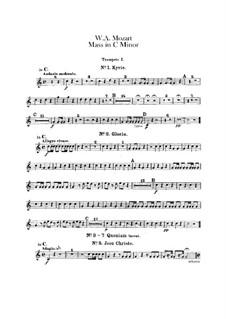 Grosse Messe in c-Moll, K.427, K.417a: Trompetenstimmen by Wolfgang Amadeus Mozart