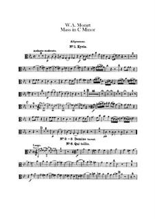 Grosse Messe in c-Moll, K.427, K.417a: Posaunenstimmen by Wolfgang Amadeus Mozart