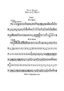 Grosse Messe in c-Moll, K.427, K.417a: Paukenstimme by Wolfgang Amadeus Mozart