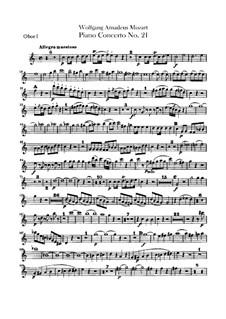 Konzert für Klavier und Orchester Nr.21 in C-Dur, K.467: Oboentimmen by Wolfgang Amadeus Mozart