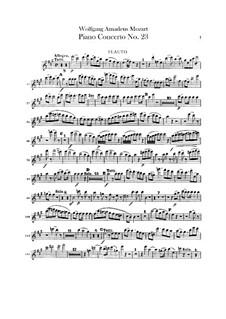 Konzert für Klavier und Orchester Nr.23 in A-Dur, K.488: Flötenstimme by Wolfgang Amadeus Mozart