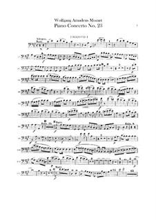 Konzert für Klavier und Orchester Nr.23 in A-Dur, K.488: Fagottstimme by Wolfgang Amadeus Mozart