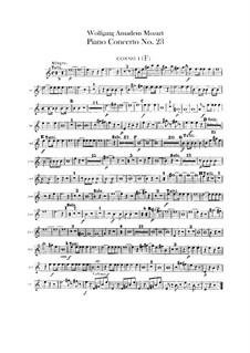 Konzert für Klavier und Orchester Nr.23 in A-Dur, K.488: Hörnerstimmen by Wolfgang Amadeus Mozart