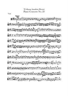 Konzert für Klavier und Orchester Nr.23 in A-Dur, K.488: Violastimme by Wolfgang Amadeus Mozart