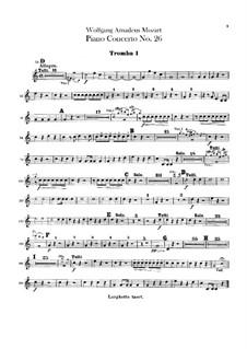 Konzert für Klavier und Orchester Nr.26 in D-Dur 'Krönungskonzert', K.537: Trompetenstimmen by Wolfgang Amadeus Mozart