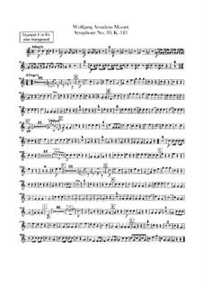 Sinfonie Nr.39 in Es-Dur, K.543: Trompetenstimmen by Wolfgang Amadeus Mozart
